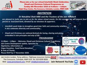 Interfaith Week Celebration at Jain Centre London